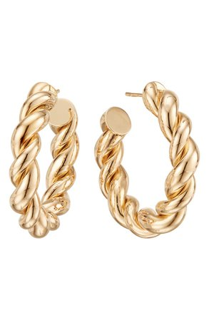 Lana Jewelry Braided Royale Hoop Earrings | Nordstrom