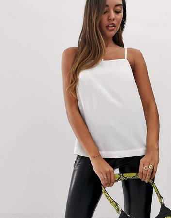 DESIGN cami with square neck with button back