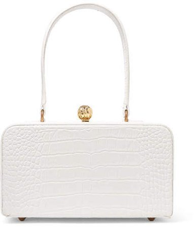 Mehry Mu - Fey In The '50s Croc-effect Leather Tote - White