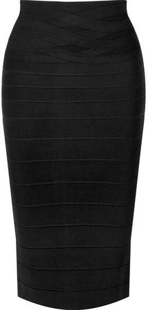 Bandage Pencil Skirt - Black