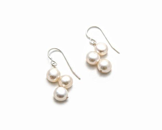 Scattered Pearl Earrings - The Pearl Girls - Dangle Pearl Earrings