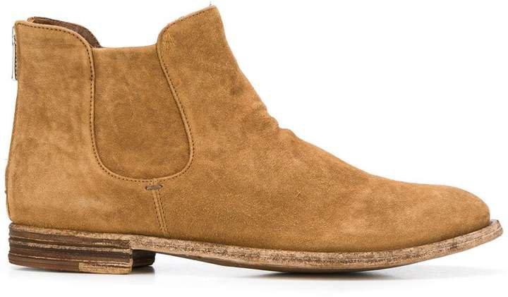 textured back zip boots