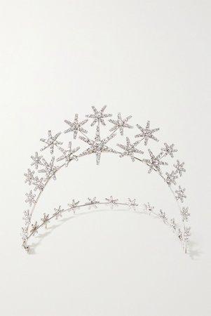 Silver Vespera silver-tone Swarovski crystal headband | Jennifer Behr | NET-A-PORTER