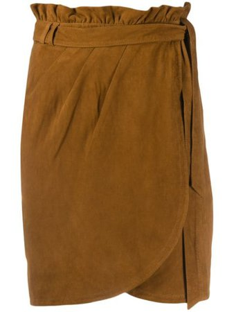 Ba&sh Suede Skirt 1E20SUN Brown | Farfetch