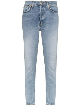 Shop blue RE/DONE slim-fit jeans with Express Delivery - Farfetch