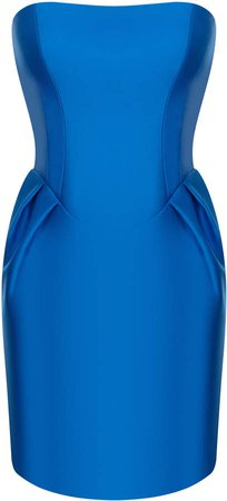 Rasario Strapless Satin Mini Dress