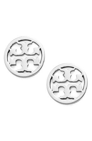 Tory Burch Circle Logo Stud Earrings | Nordstrom