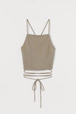 Open-back Camisole Top - Beige - Ladies   H&M US