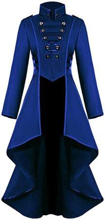Long Blue Gothic Coat