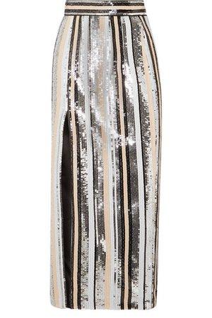 Rasario | Sequined satin midi skirt | NET-A-PORTER.COM
