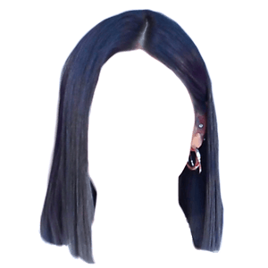 short black hair png