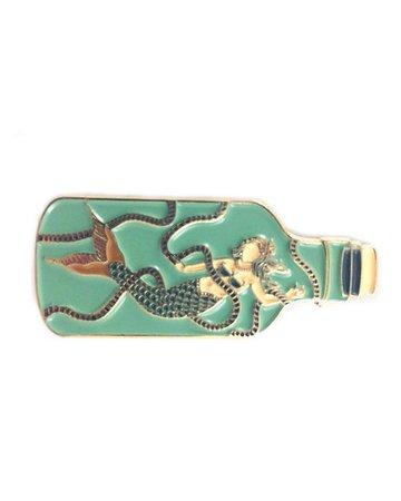 Mermaid In A Bottle Pin – Strange Ways