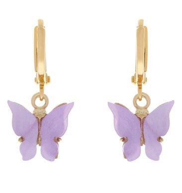 Lilac butterfly earrings