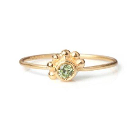 Gold Les Petites Petillantes Crown Peridot Ring | Maro | Wolf & Badger