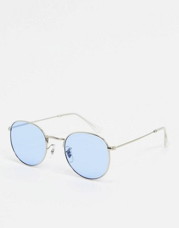 A.Kjaerbede round sunglasses in silver | ASOS