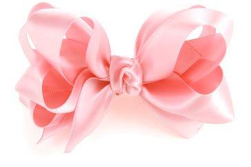 pink satin hair bow - Google Search