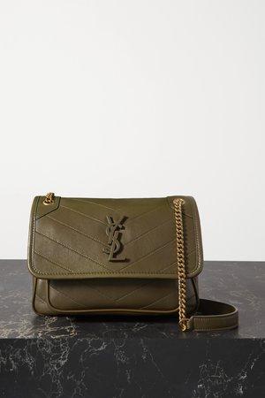 Green Niki Baby mini quilted leather shoulder bag | SAINT LAURENT | NET-A-PORTER