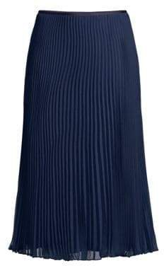 Women's Long A-Line Pleated Skirt - Cruise Navy - Size 14