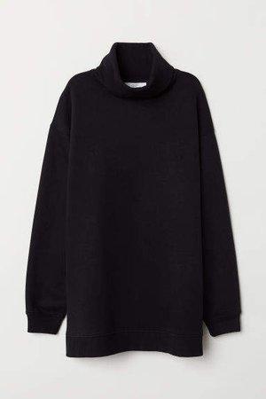 Turtleneck Sweatshirt - Black
