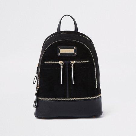 Black zip bottom backpack - Backpacks - Bags & Purses - women