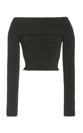 Off-The-Shoulder Crepe Tube Top by Dion Lee