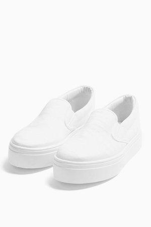 CONGO White Slip On Sneakers | Topshop