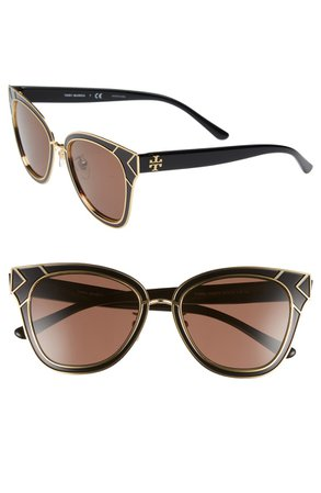 Tory Burch Enamel San Ray 53mm Sunglasses | Nordstrom