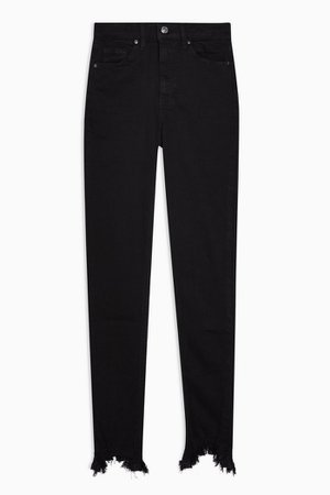 CONSIDERED Black Jagged Hem Jamie Skinny Jeans | Topshop