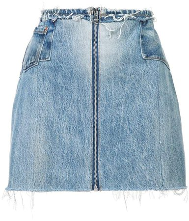 raw zipped skirt