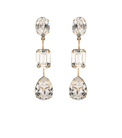 Jennifer Behr - Allanah crystal-embellished earrings | Mytheresa