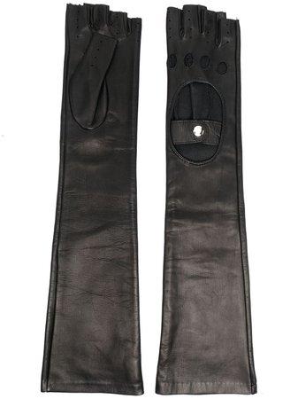 Manokhi long-length leather gloves - FARFETCH