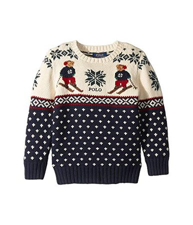 Polo Ralph Lauren Kids Ski Bear Cotton-Merino Sweater (Little Kids/Big Kids) at Zappos.com