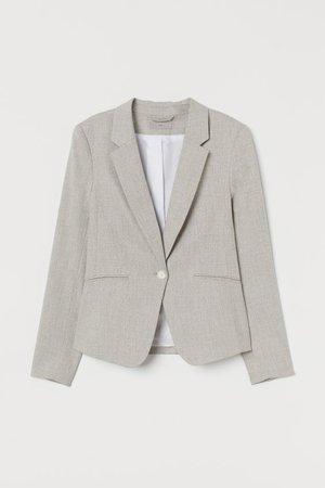 Saco entallado - Beige claro - Ladies | H&M MX