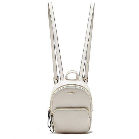 Amazon.com | MICOCAH Casual Women backpacks PU leather Black/White (White) | Casual Daypacks