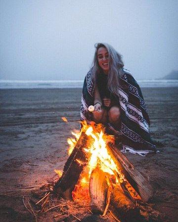 beach bonfire girl - Google Search