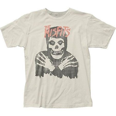 Misfits Classic Skull Fiend Club Off White Distressed Tee Shirt Punk Rock Music - Fearless Apparel