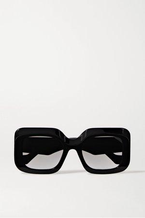 Black Oversized square-frame acetate sunglasses | Loewe | NET-A-PORTER