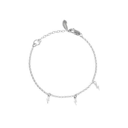 Mini Bolt Charm Bracelet Silver | Harry Rocks | Wolf & Badger