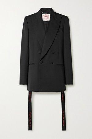 Black We Are The Weather oversized wool blazer   Stella McCartney   NET-A-PORTER