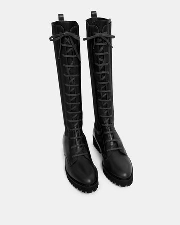 Leather Laced Lug Boot | Theory