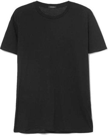 Boy Cotton And Cashmere-blend T-shirt - Black