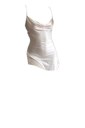 White silk dress