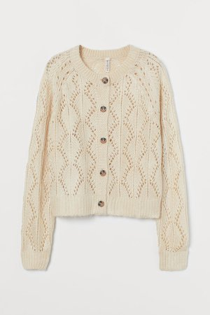 Lace-knit Cardigan - White