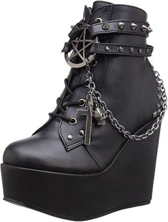 Amazon.com | Demonia Women's Poison-101/BVL Boot | Ankle & Bootie
