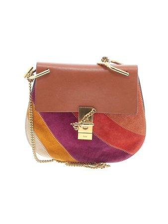 Chloé Solid Maroon Brown Leather Shoulder Bag One Size - 44% off | thredUP