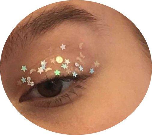 glittery stars stickers