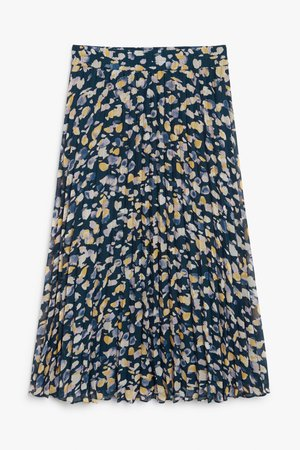 Pleated midi skirt - Multi spot print - Midi skirts - Monki WW