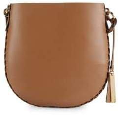 Leather Bucket Crossbody Bag