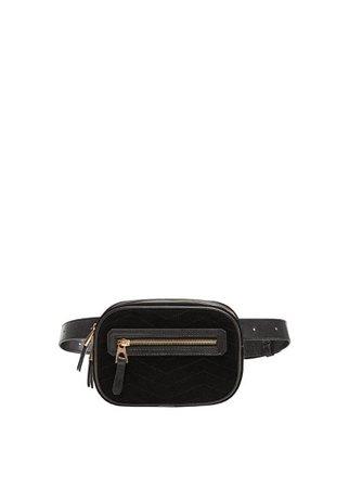 MANGO Leather bum bag