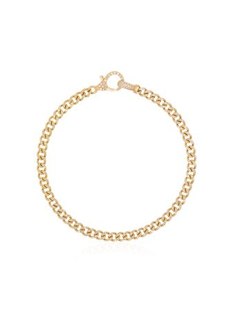 SHAY 18kt Gold Pavé Diamond Link Bracelet - Farfetch